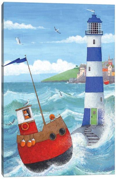 Blue Lighthouse Canvas Art Print