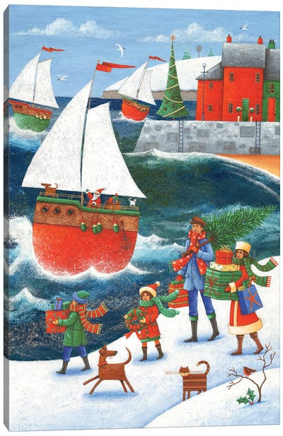 Christmas By The Sea Canvas Art Print