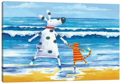 Duke & Sweetpea Love Paddling Canvas Art Print