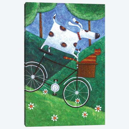 Duke's Bike Ride Canvas Print #ADD25} by Peter Adderley Art Print