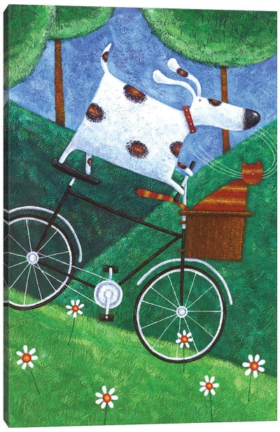 Duke's Bike Ride Canvas Art Print