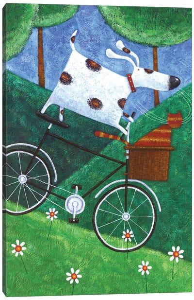 Duke's Bike Ride Canvas Art Print