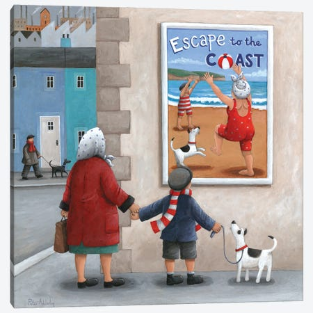 Escape To The Coast 2 Canvas Print #ADD27} by Peter Adderley Canvas Art Print