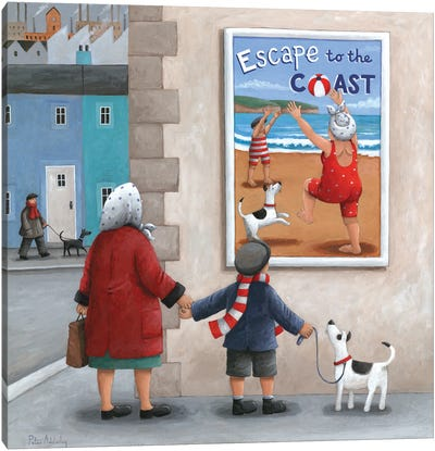 Escape To The Coast 2 Canvas Art Print