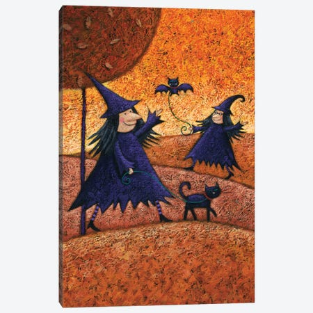 Halloween Witches Canvas Print #ADD29} by Peter Adderley Canvas Wall Art