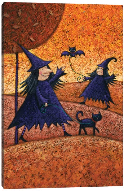 Halloween Witches Canvas Art Print