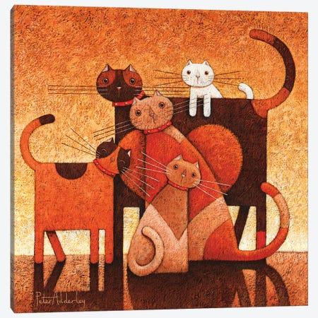 A Family Affair Canvas Print #ADD2} by Peter Adderley Canvas Wall Art