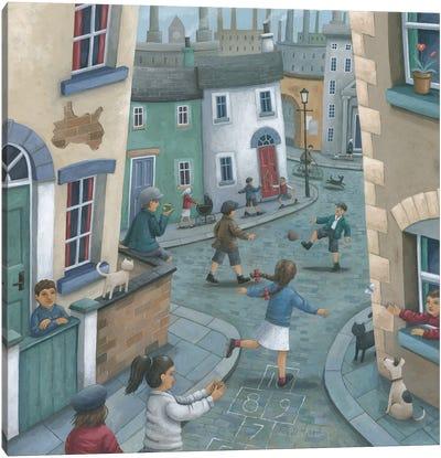 Hopscotch Down The Hill Canvas Art Print