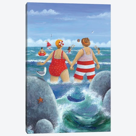 I Do Like To Be Beside The Seaside Canvas Print #ADD34} by Peter Adderley Canvas Artwork