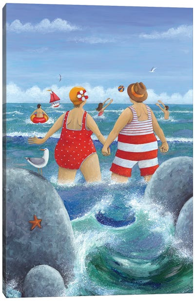 I Do Like To Be Beside The Seaside Canvas Art Print