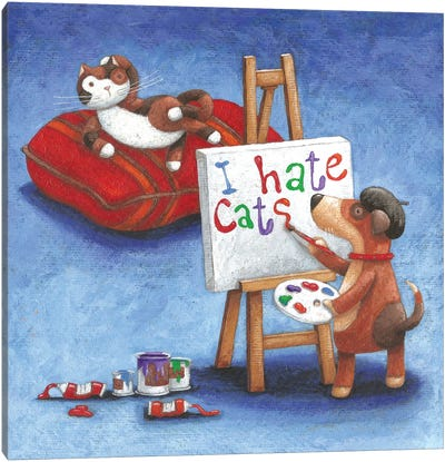 I Hate Cats Canvas Art Print