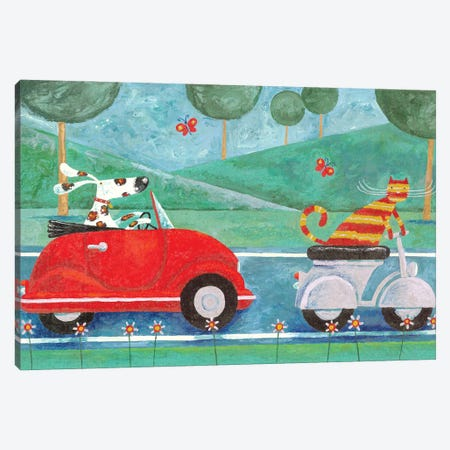 On The Road With Duke & Sweetpea Canvas Print #ADD43} by Peter Adderley Canvas Artwork