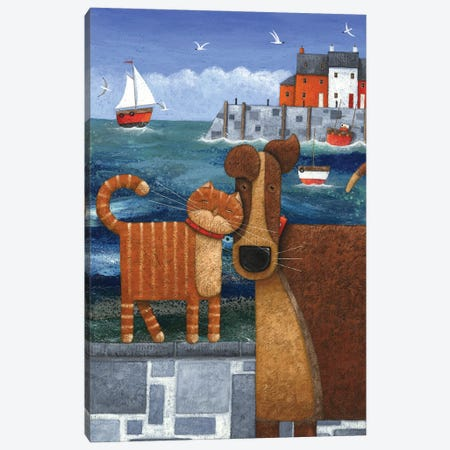 Pets By The Sea Canvas Print #ADD46} by Peter Adderley Canvas Art Print