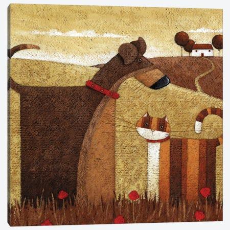 Poppy Field Canvas Print #ADD47} by Peter Adderley Canvas Art Print