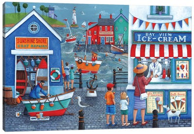 Seaside Icecreams Canvas Art Print