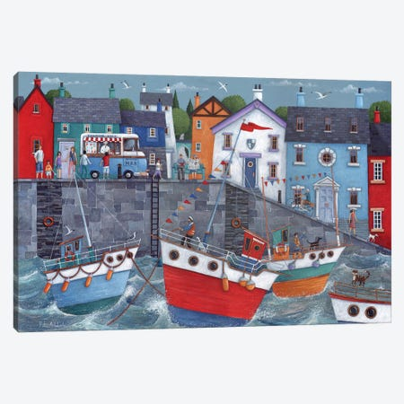 Seaside Promenade Canvas Print #ADD51} by Peter Adderley Art Print