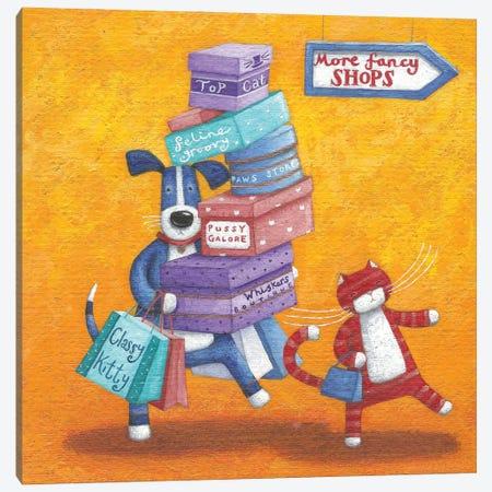Shop Till He Drops Canvas Print #ADD54} by Peter Adderley Canvas Artwork
