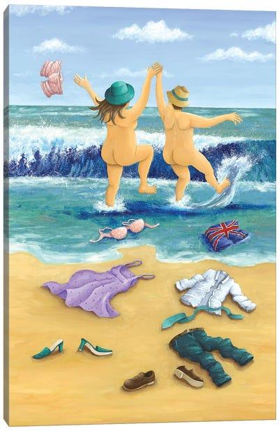 Skinny Dippers Canvas Art Print
