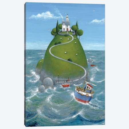 The Island Canvas Print #ADD61} by Peter Adderley Canvas Wall Art