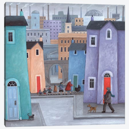 The Little Ones Canvas Print #ADD62} by Peter Adderley Canvas Art