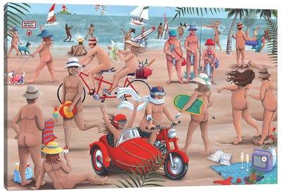 The Nudist Beach Canvas Art Print
