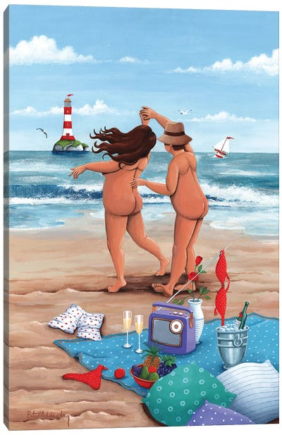 Beach Dance Canvas Art Print