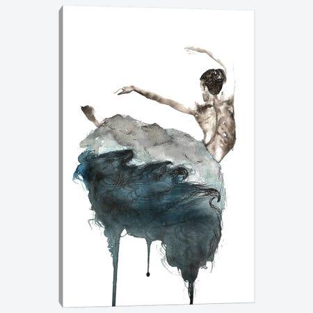 Ballerina Canvas Print #ADE1} by ANDA Design Canvas Print