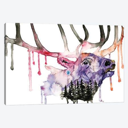 Hirsch Canvas Print #ADE25} by ANDA Design Canvas Artwork