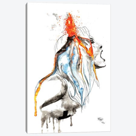 Volcano Canvas Print #ADE55} by ANDA Design Art Print