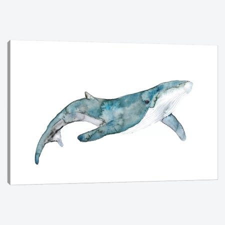 Whale Canvas Print #ADE56} by ANDA Design Canvas Print