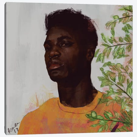 Gold I Canvas Print #ADK10} by Adekunle Adeleke Canvas Artwork