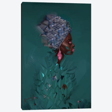 Green Canvas Print #ADK13} by Adekunle Adeleke Canvas Wall Art