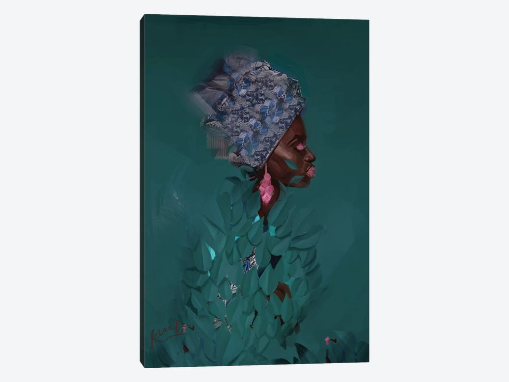 Green by Adekunle Adeleke 1-piece Canvas Print