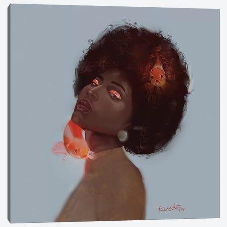 Koi 3-Piece Canvas #ADK16} by Adekunle Adeleke Canvas Print