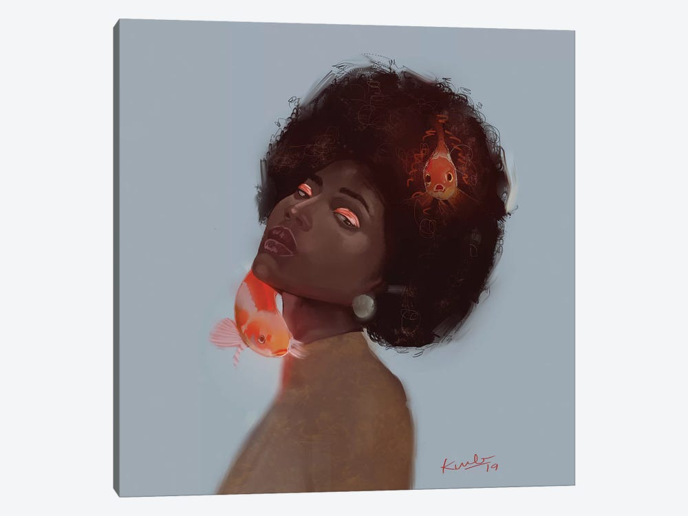 Koi by Adekunle Adeleke 1-piece Canvas Art