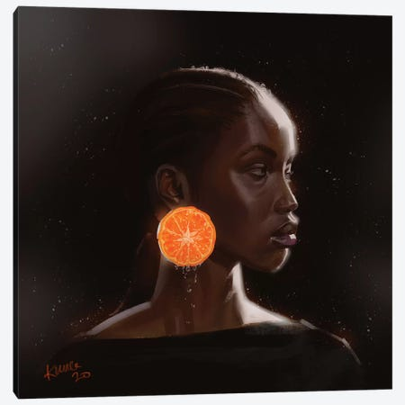 Orange Canvas Print #ADK18} by Adekunle Adeleke Canvas Artwork