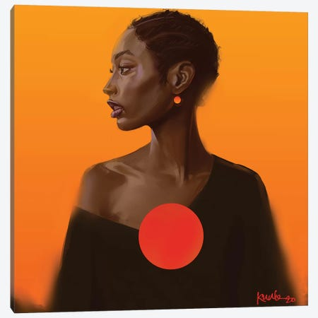 Sunset 3-Piece Canvas #ADK22} by Adekunle Adeleke Art Print