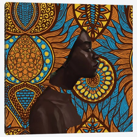 Wax Series Canvas Print #ADK25} by Adekunle Adeleke Canvas Art
