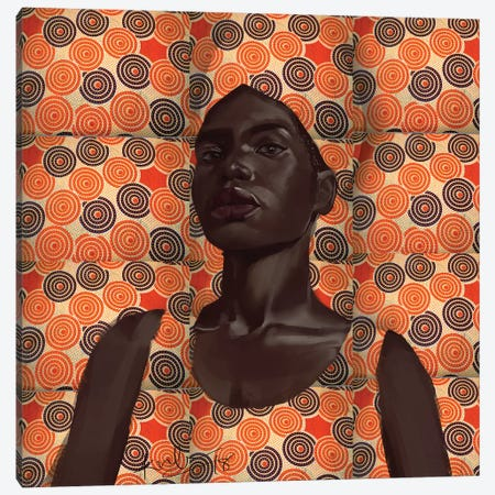 Wax Series II Canvas Print #ADK27} by Adekunle Adeleke Canvas Art