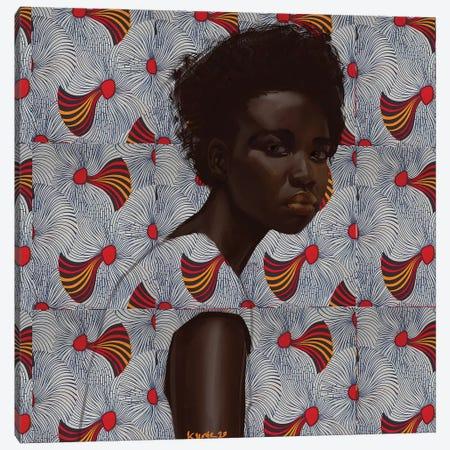 Wax Series VII Canvas Print #ADK32} by Adekunle Adeleke Canvas Wall Art