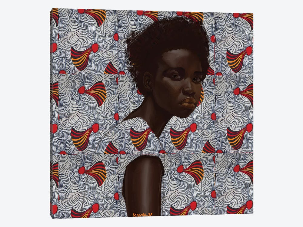 Wax Series VII by Adekunle Adeleke 1-piece Canvas Wall Art