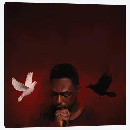 White And Black I Canvas Print #ADK34} by Adekunle Adeleke Canvas Art Print