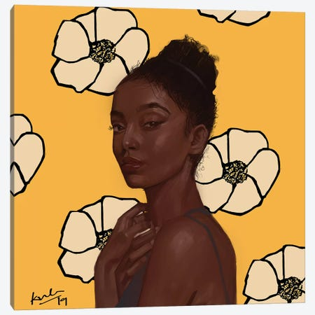 Yellow Canvas Print #ADK35} by Adekunle Adeleke Canvas Print