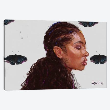 Black Butterfy Canvas Print #ADK3} by Adekunle Adeleke Canvas Print