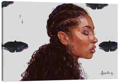 Black Butterfy Canvas Art Print