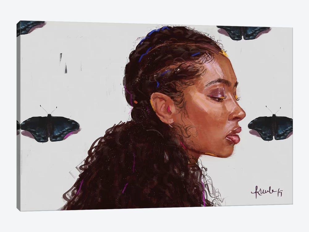 Black Butterfy by Adekunle Adeleke 1-piece Canvas Art