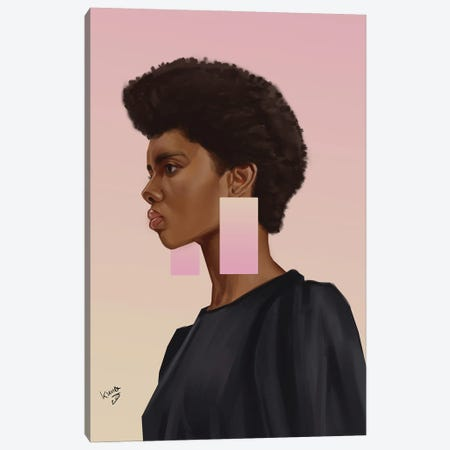 Peachy Canvas Print #ADK42} by Adekunle Adeleke Canvas Art Print