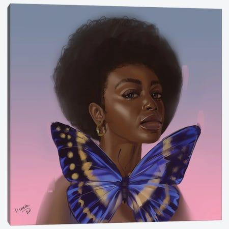 Blue Canvas Print #ADK48} by Adekunle Adeleke Canvas Print