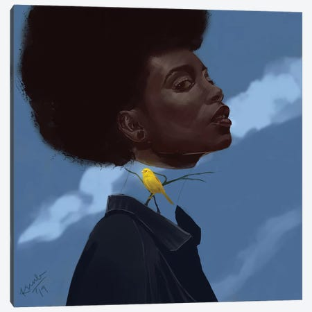 Canary Canvas Print #ADK4} by Adekunle Adeleke Canvas Artwork