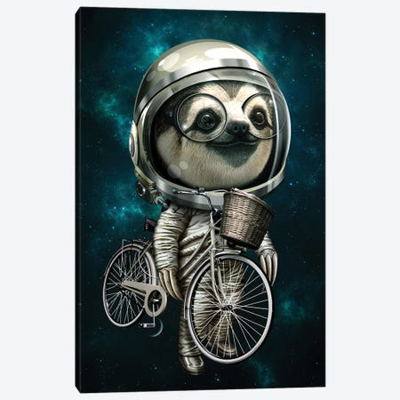 With My Bike Canvas Print #ADL102} by Adam Lawless Canvas Print